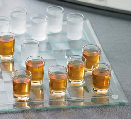 Checker Shot Glass Set